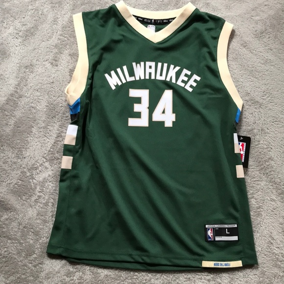 new concept f98c0 8ab1f Giannis Antetokounmpo NBA Milwaukee Bucks Jersey NWT